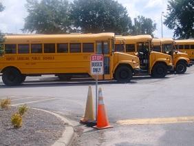 Автобусы ждут школьников