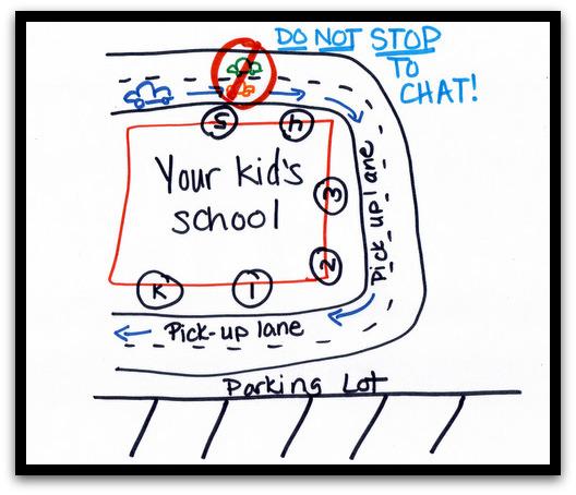 как забирать детей из школы на машине