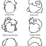 Нарисуй эмоции на испанском